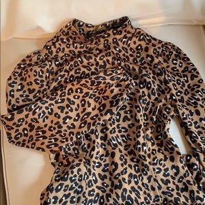 Cheetah Long Sleeve Dress